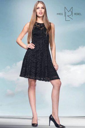 Dorka ruha fekete