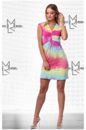 -1 MILVA ringlis ruha pink