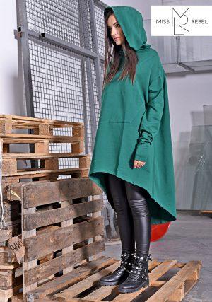 AKASA kabát sötétzöld