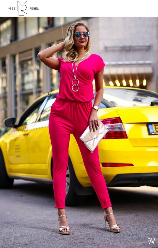 Anna overáll pink
