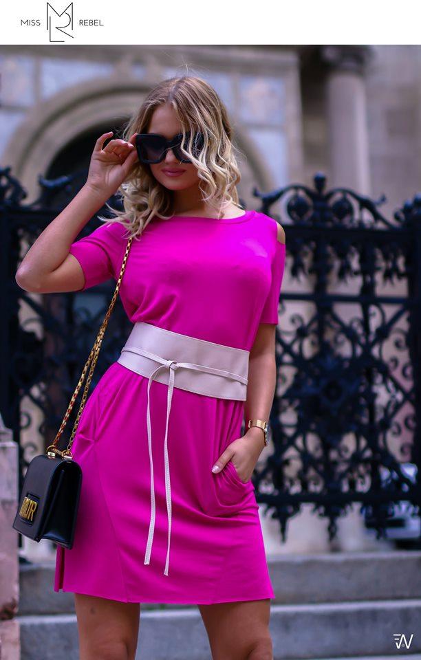1351 Ella ruha pink SM,LXL,XXL,XXXL nká 5990 kká 11990