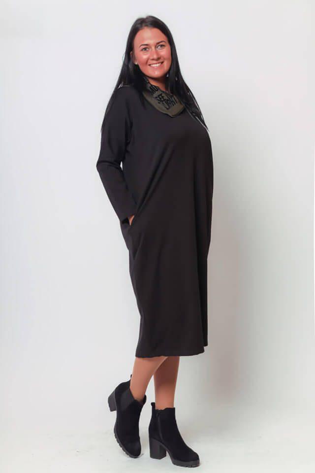 017 Helén ruha keki-fekete l,xl,xxl (2)
